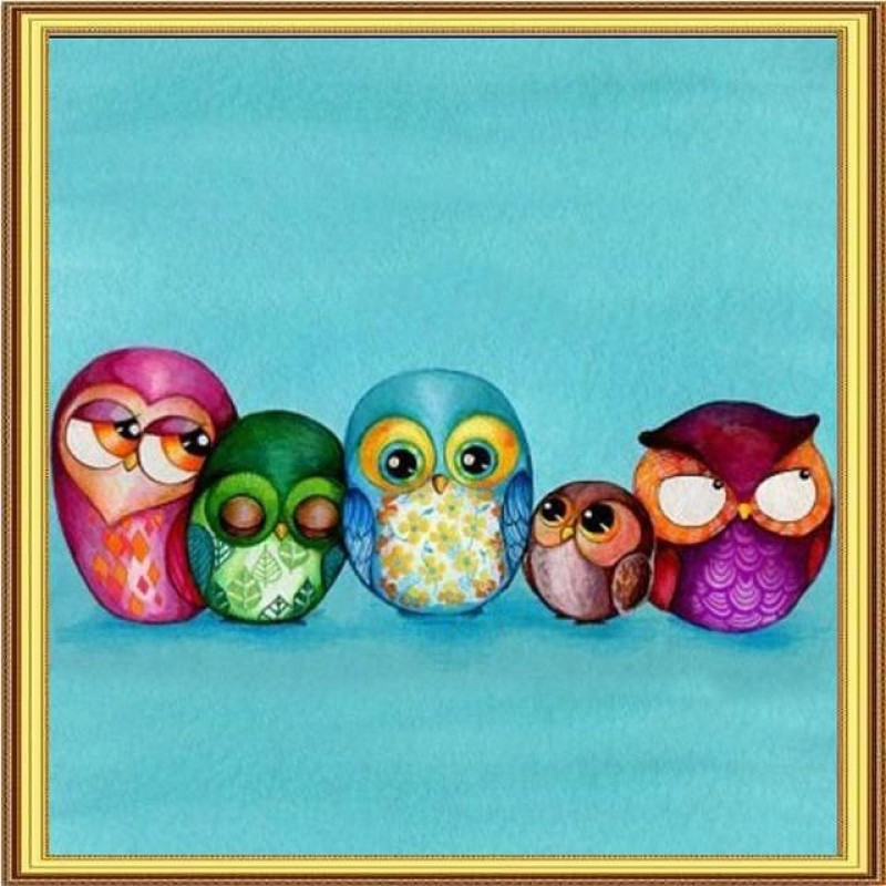 5 Owls 5D DIY Paint ...