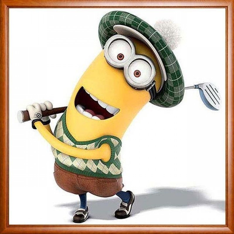 Minion Playing Golf 5D DI...