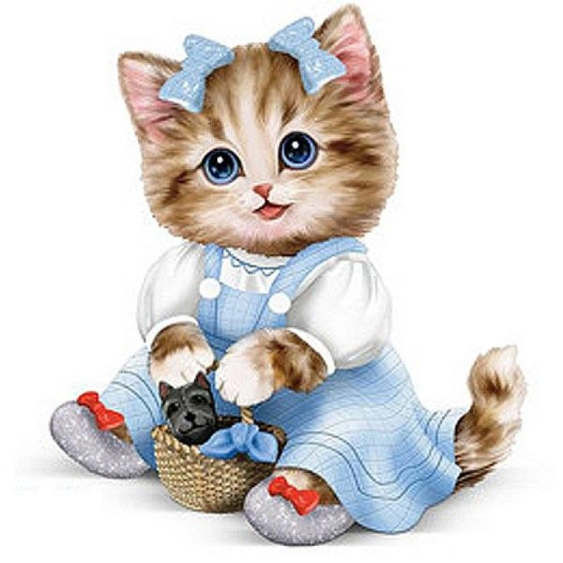 Adorable Cartoon cat...