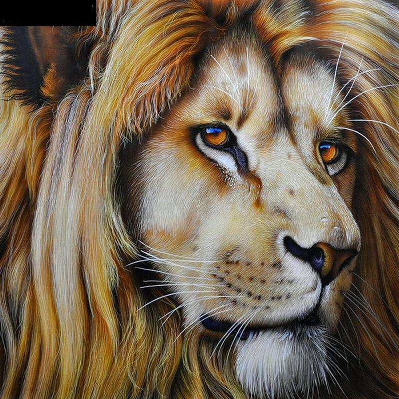 Lion Embroidery Cros...