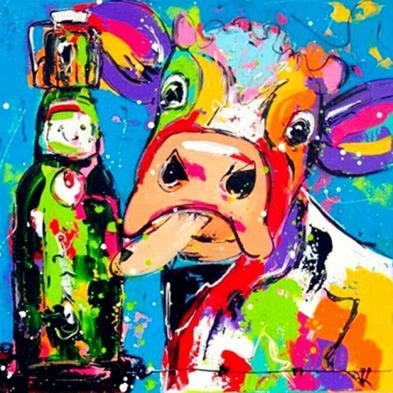Colorful Cow With A ...