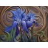 Abstract Blue Flower 5D DIY Paint By Diamond Kit