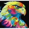Colorful Eagle Without Background 5D DIY Paint By Diamond Kit