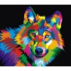 Colorful Coyote 5D DIY Paint By Diamond Kit