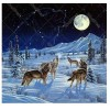 Wolf In The Snow 5D DIY Paint By Diamond Kit