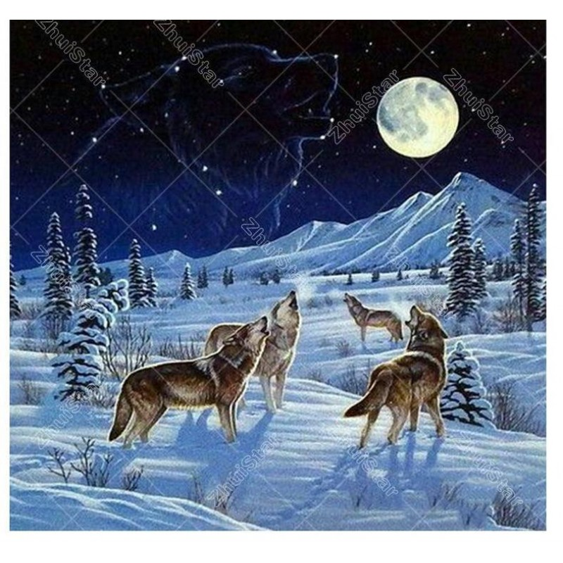 Wolf In The Snow 5D ...
