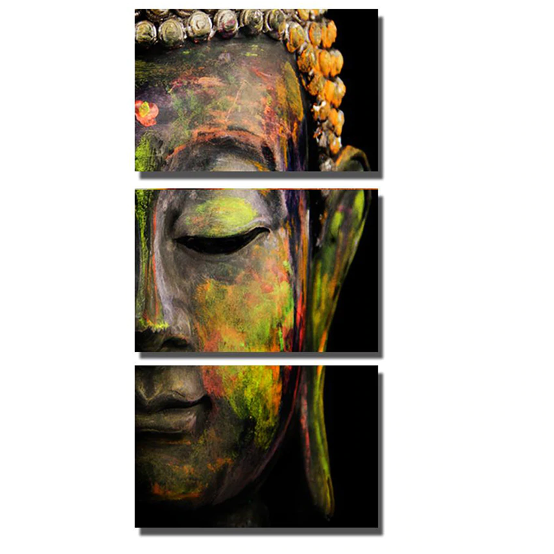 3pcs Abstract Buddha...