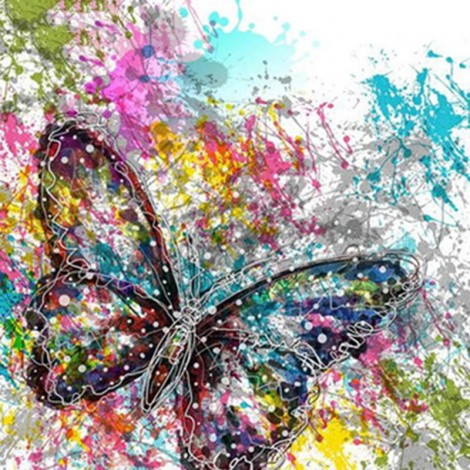Abstract Butterfly 5D DIY Paint By Diamond Kit