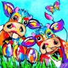 Colorful Cows In Love 5D DIY Paint By Diamond Kit