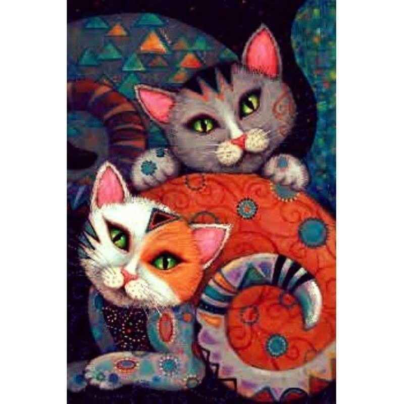 Abstract Cats 5D DIY...