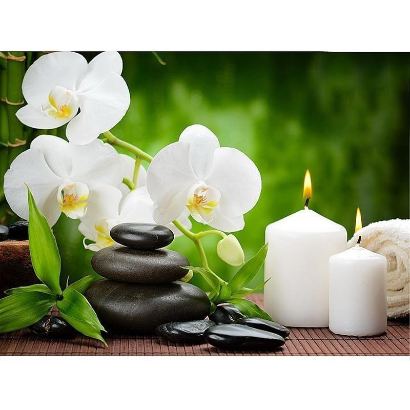 Orchid Candles Stone...