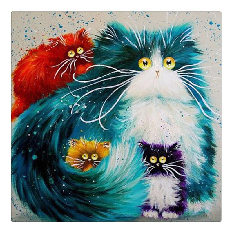 Colorful Cats 5D DIY...