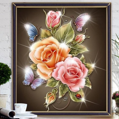 Magic Flowers 5D DIY Paint By Diamond Kit
