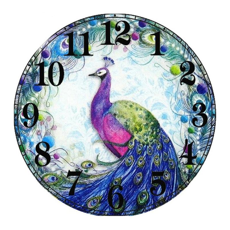 Peacock Clock 5D DIY Pain...